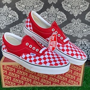 VANS ERA CHECKERBOARD RACING RED MEN'S